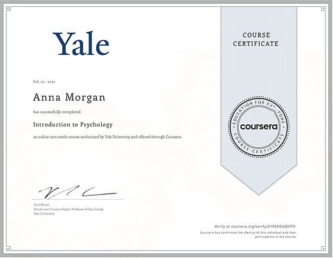 Introduction to Psychology - Yale