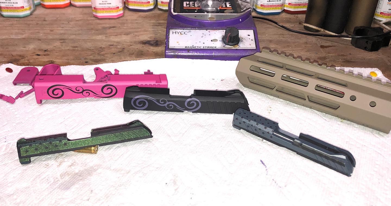 Stencil work, Gun Candy