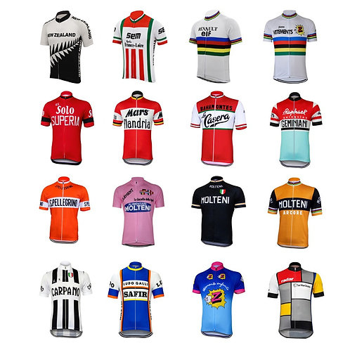 Retro print Cycling Jerseys Summer Short Sleeves