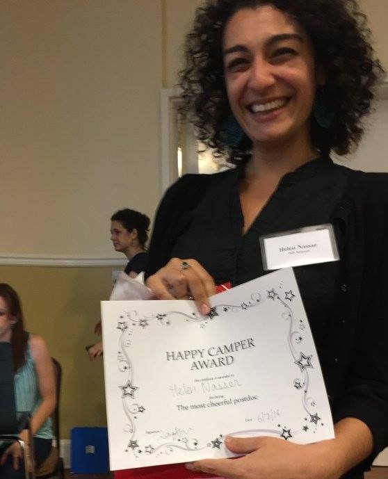 Helen wins happiest postdoc award