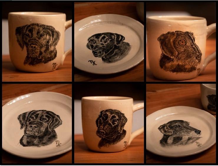 Portraits auf Keramik
