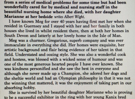 The passing of Meg McCourt