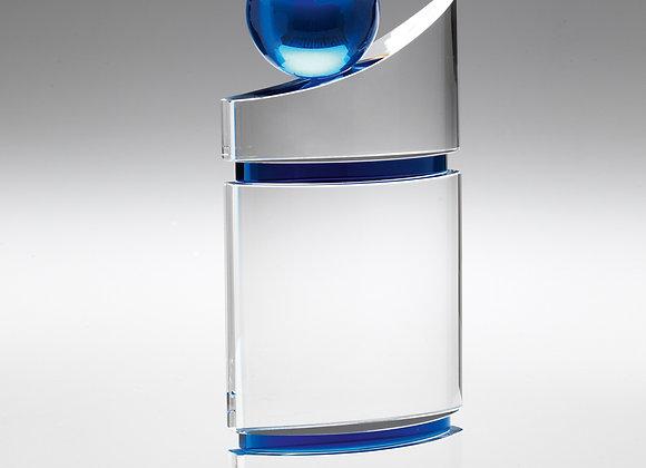 Pillar Award with Blue globe