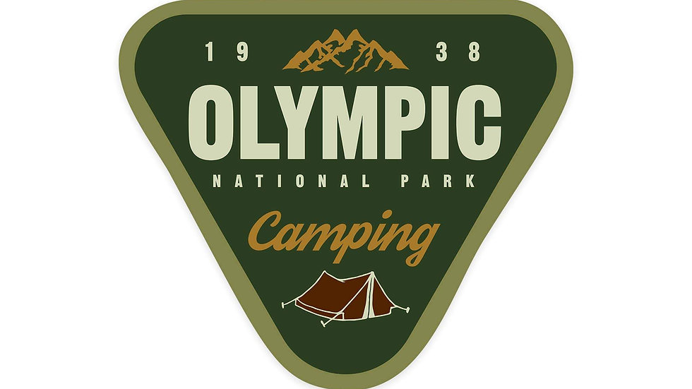 Olympic National Park, Washington - Camping  Sticker, Indoor/Outdoor