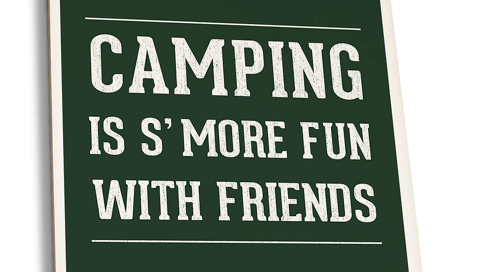 Camping is S'more Fun - Rustic Simply Said Coaster