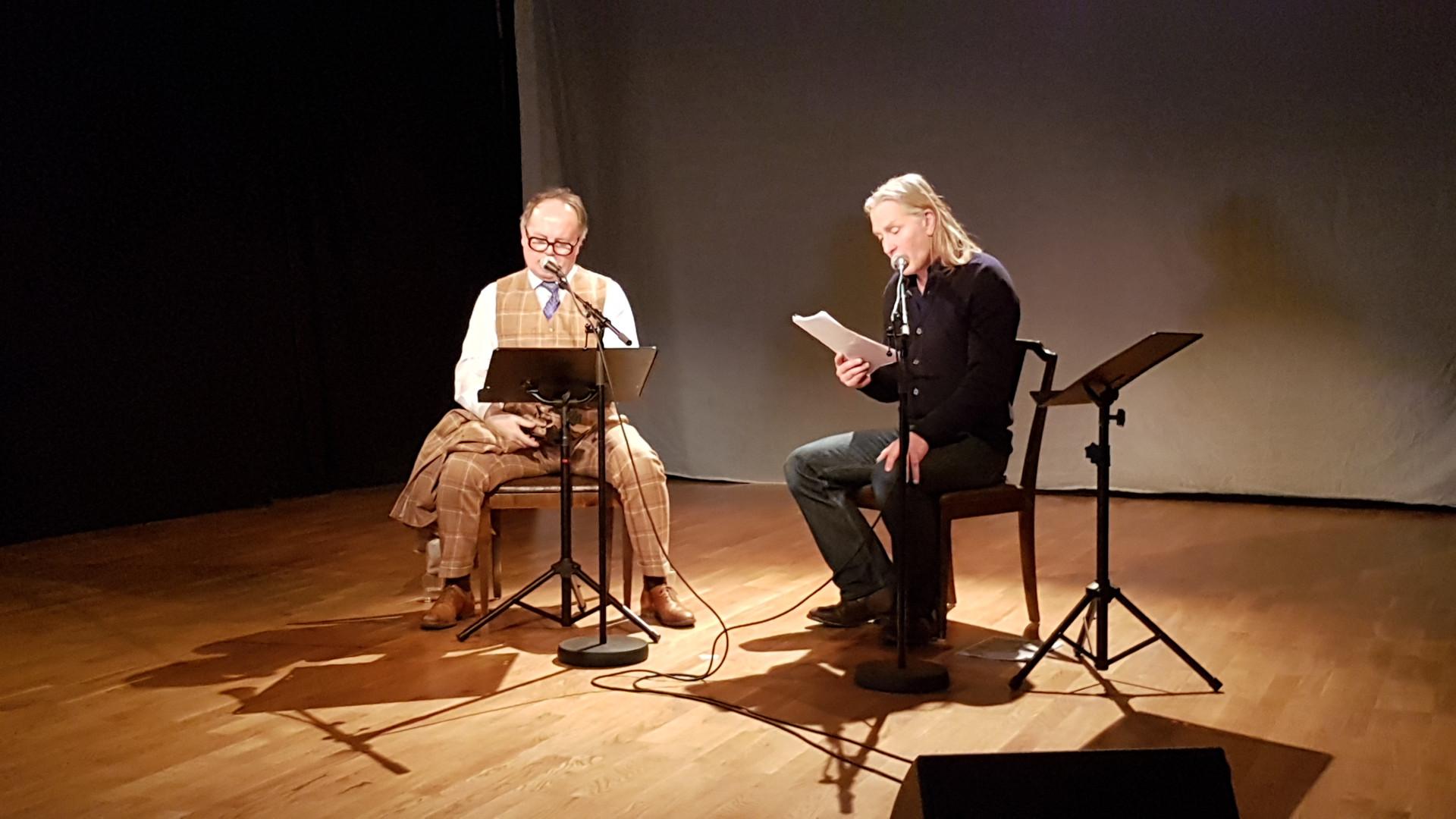 Dramatiker Finn Iunker og skuespiller Torbjørn Davidsen