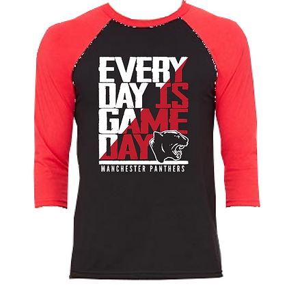 Manchester Everyday is Game Day Unisex 3/4 Sleeve Baseball Tee