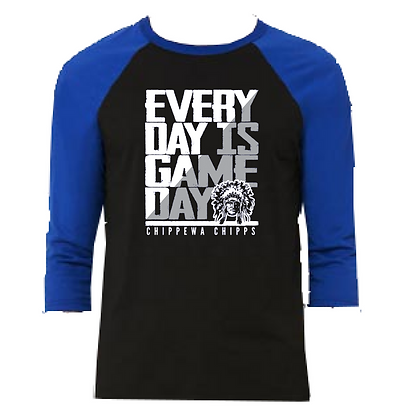 Chippewa Everyday is Game Day 3/4 Sleeve Baseball Tee