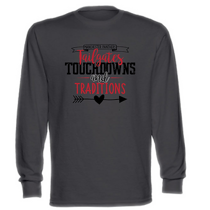 Manchester Tailgates, Touchdowns, and Traditions Unisex Long Sleeve T-Shirt