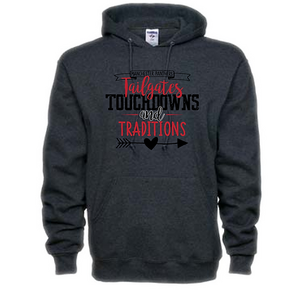Manchester Tailgates, Touchdowns, and Traditions Unisex Hooded Sweatshirt