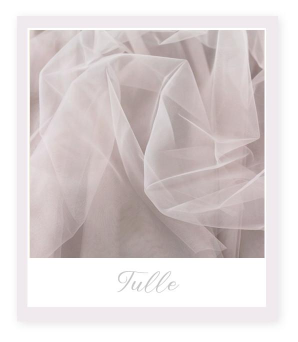 Materiale pentru Rochia de Mireasă: Tulle