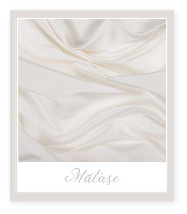 Materiale pentru Rochia de Mireasă: Mătase