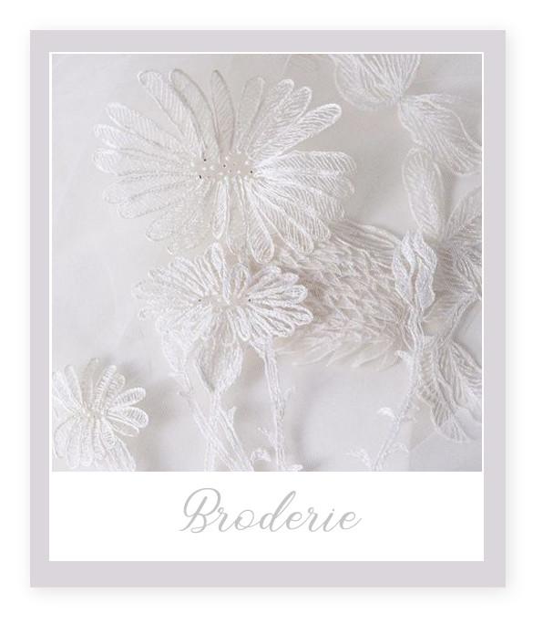 Materiale pentru Rochia de Mireasă: Broderie