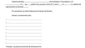 Livretul de Familie (reglementat prin Hotărârea de Guvern nr.495/1997)