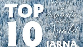 TOP 10 Planșe cu Inspirație pentru o Nuntă de IARNĂ