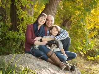 Family -Kimberley, Anthony ,Marcus & Pretzel