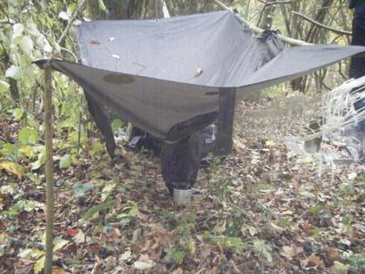 Le poncho de pluie