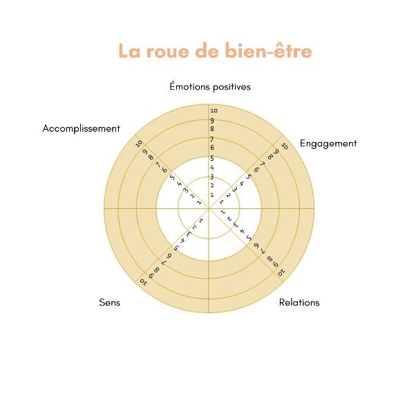 roue de bien être développement personnel
