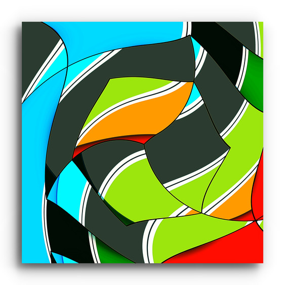 Torqued geometric abstraction 1.0 on squ