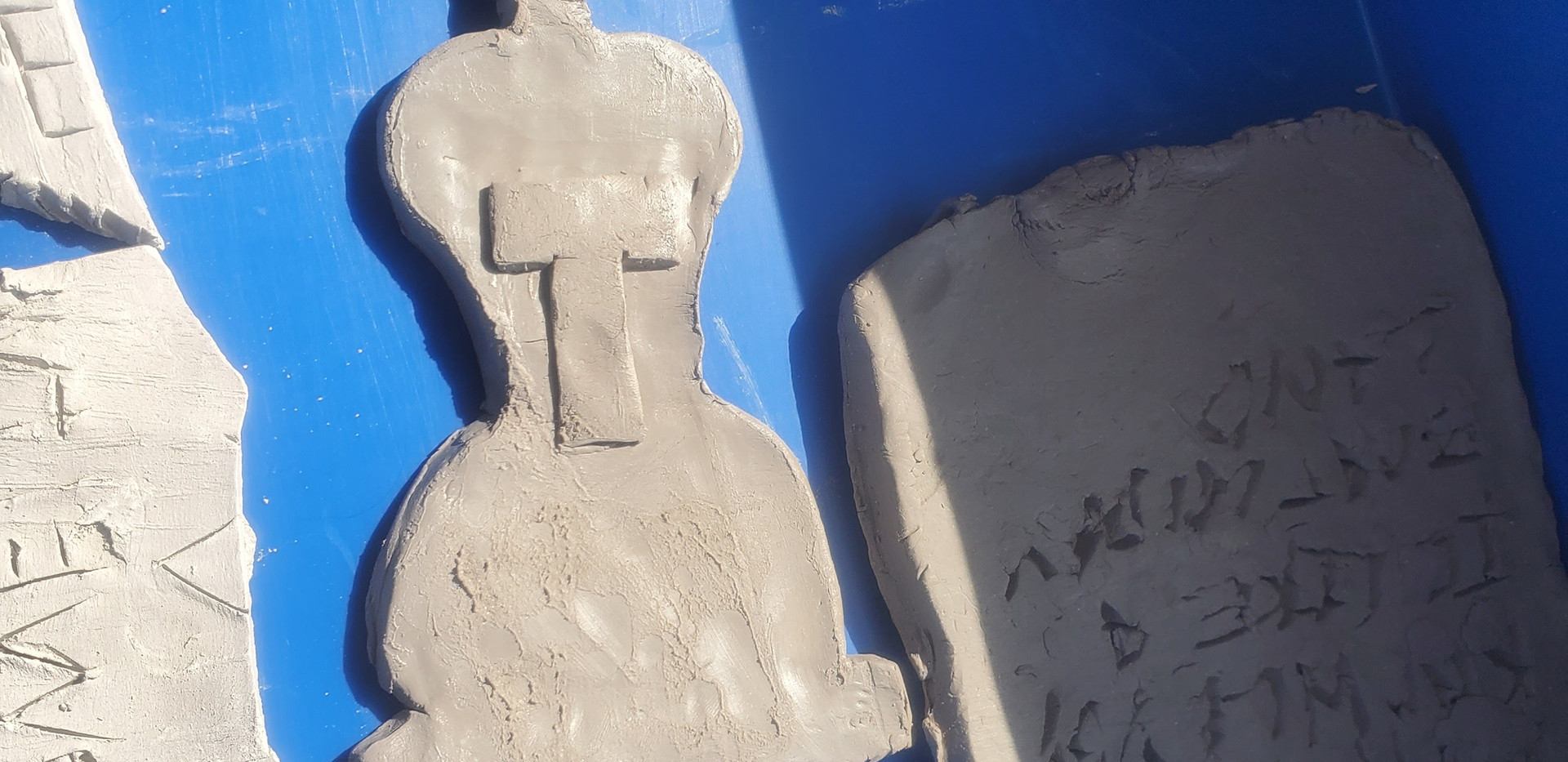 Clay sculpture by student