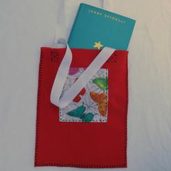 Red Felt Bag with Pocket
