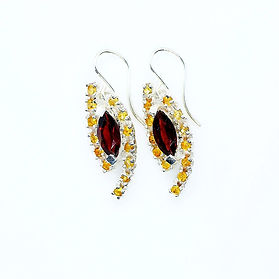 Yellow Sapphire earring