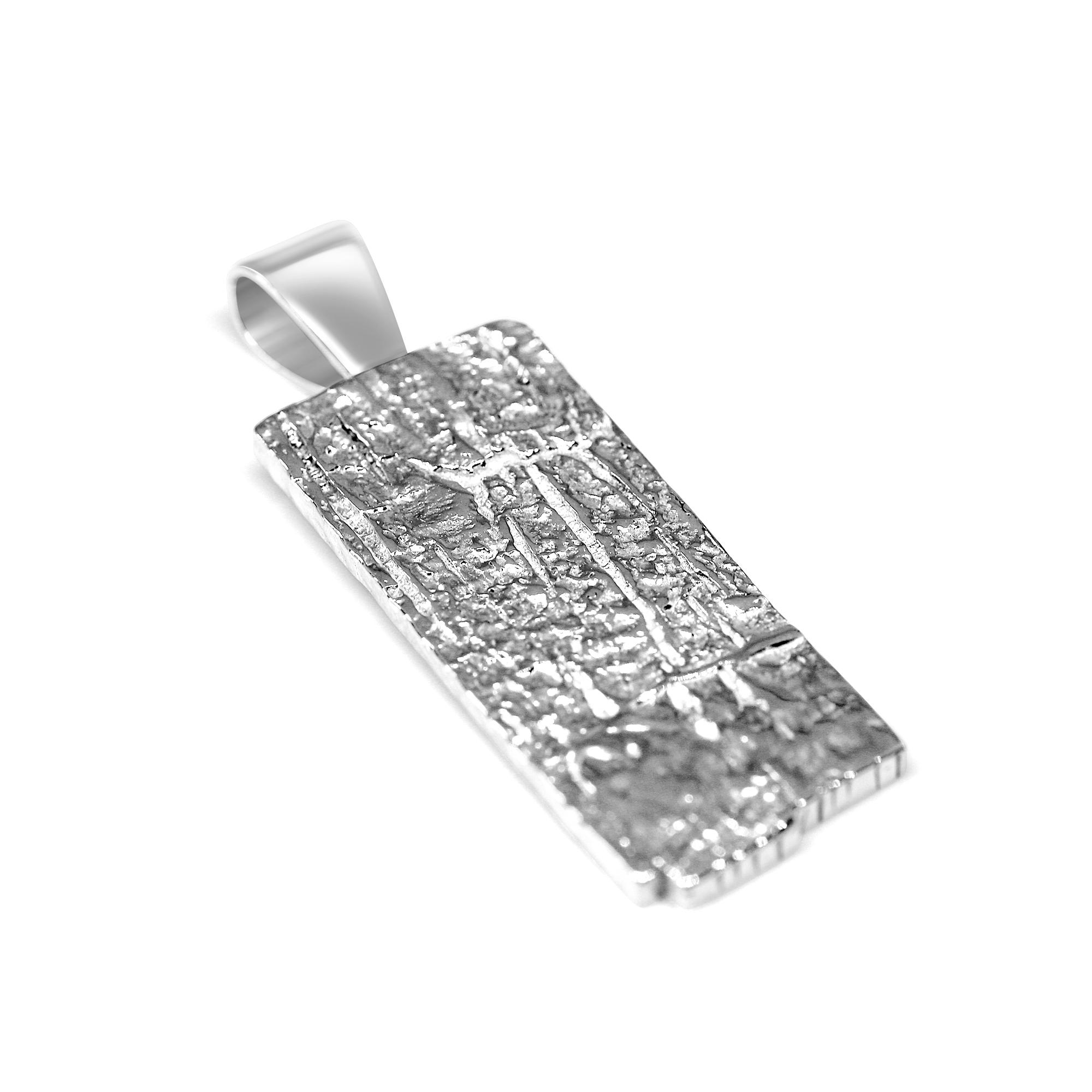 Texture Silver Pendant