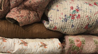 Vintage floral bedding