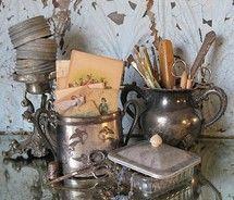 Antique silver objets de vertu