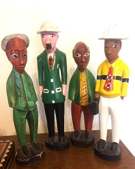 Collectable West African Colonial Folk Art Figures