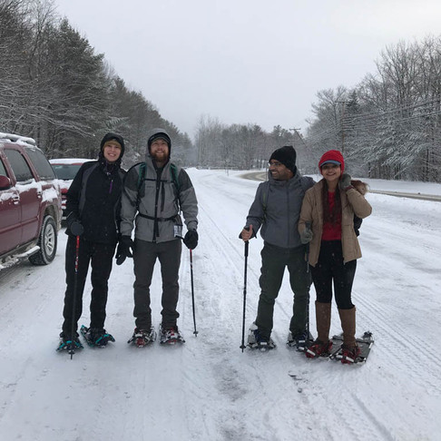 New Year's Eve on Snowshoes