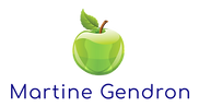 Logo Martine Gendron - Pomme 3D Silhouet