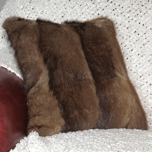 Coussin 16X16 - Fourrure Rat musqué
