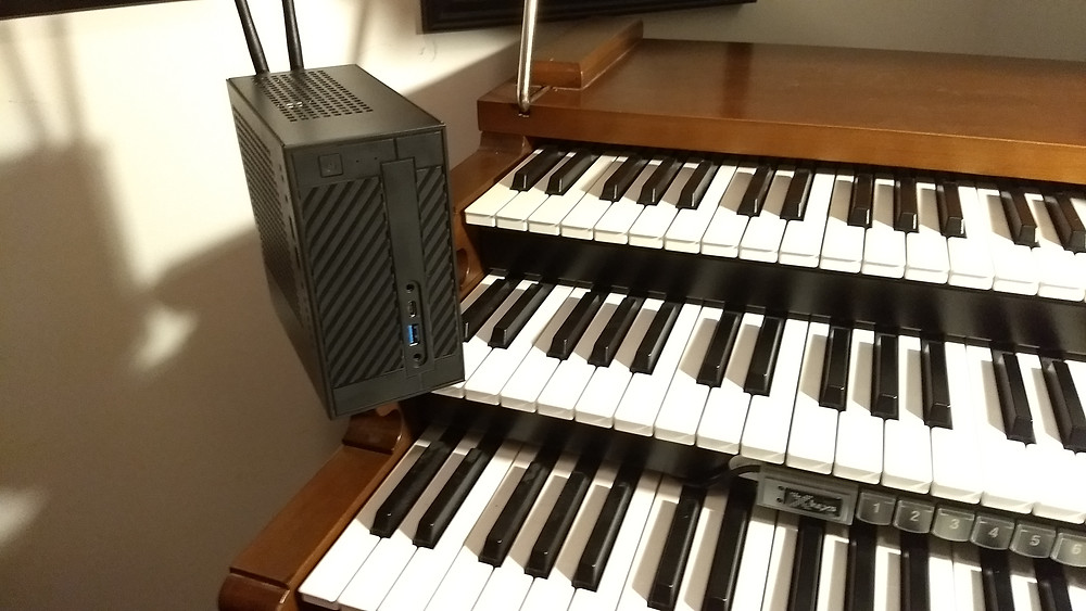 Figure 6 – The completed build. Standard Organ Keyboards for size reference.
