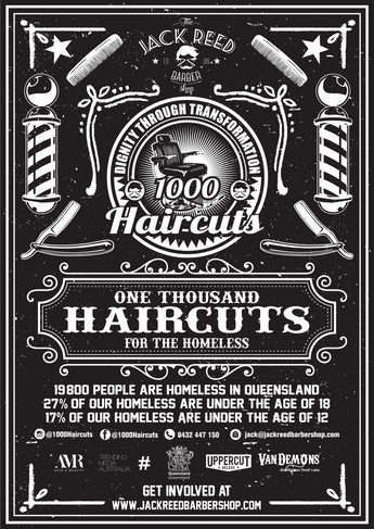 1000 Haircuts for the Homeless