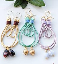 leather large hoops, leather earrings, Oval earrings hoop, gemstone earrings, crystal hoops,