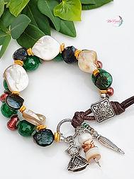 Gemstone bracelet, Multistrand Boho Bracelet, Green onyx bracelet, hand made jewelry, beaded bracelett_11-26-06.25.08.jpg