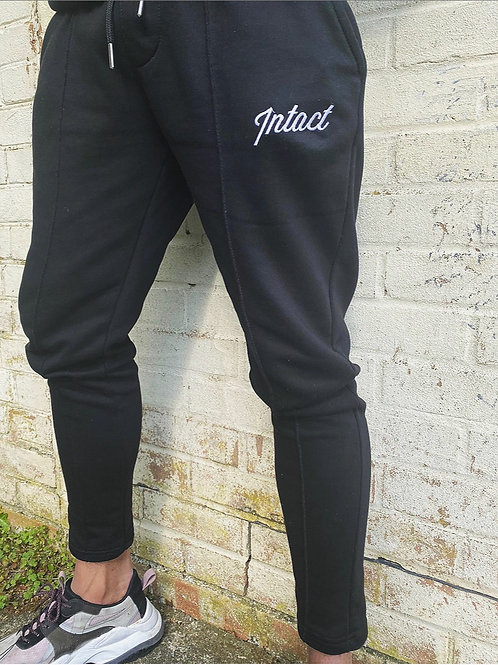 Black Slim Seam Jogging Bottoms