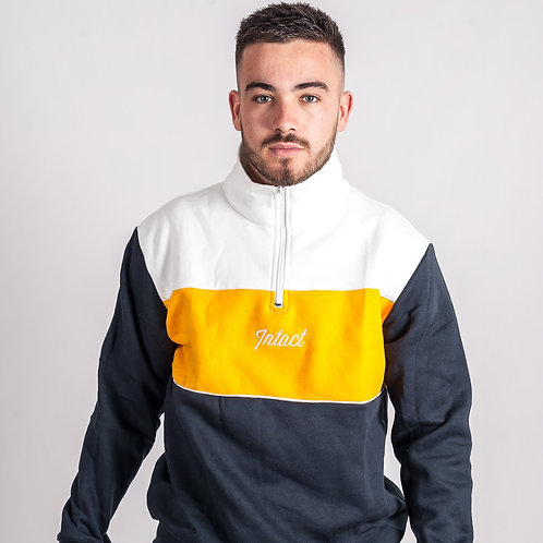 18 Three Tone Quarter Zip Sweatshirt