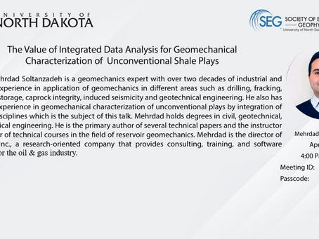 PetroGem's Talk on Integrated Geomechanical Characterization at the University of North Dakota