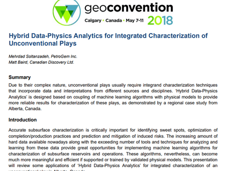 A Geoconvention Talk: Hybrid Data-Physics Analytics for Integrated Characterization of Unconventiona