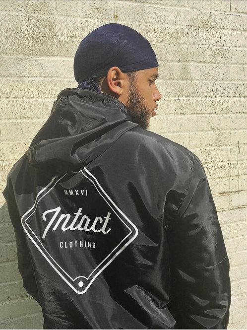 Black 1/4 Zip Rain Jacket