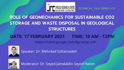 PetroGem Talk on the Geomechanics of CO2 Sequestration for Jamilus Research Center in Malaysia