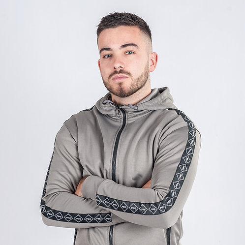 18 Charcoal Grey Poly Tracksuit Jacket