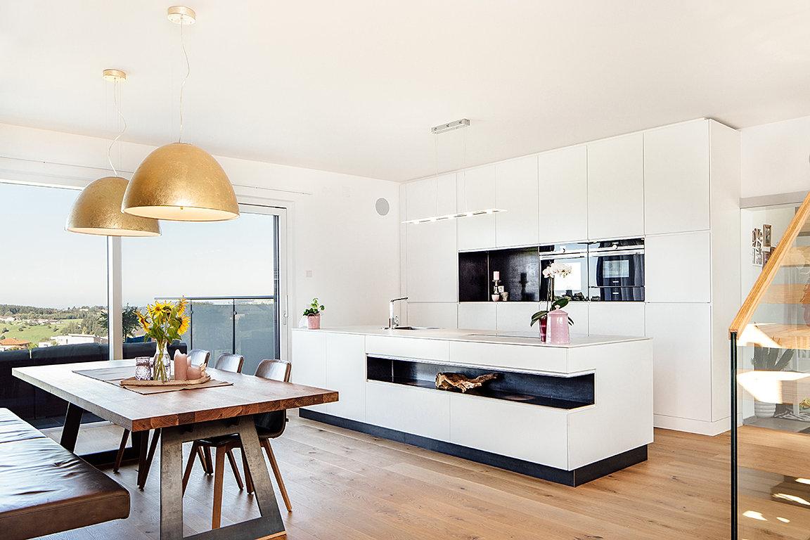 Holzwerkstatt sarleinsbach gmbh küche mit esszimmer