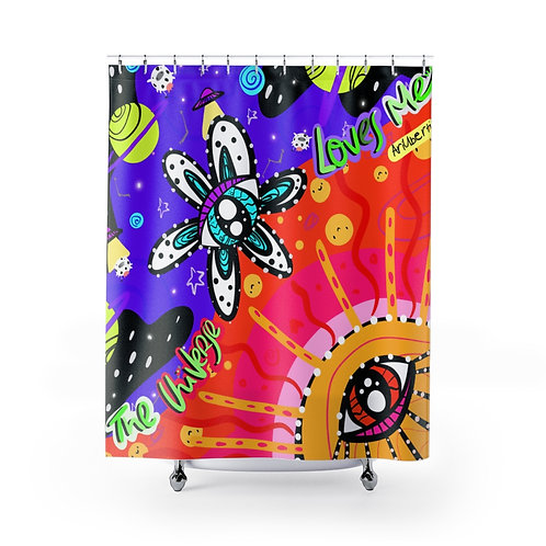 The Universe Loves Me - Shower Curtain