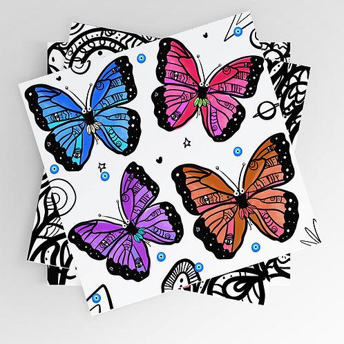 Happy Butterflies 8x8 print