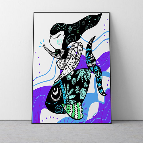 "Ocean Calls Poster 12x18"""