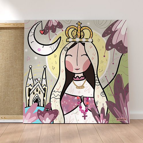 "Virgen Del Valle Lienzo 16x16"""