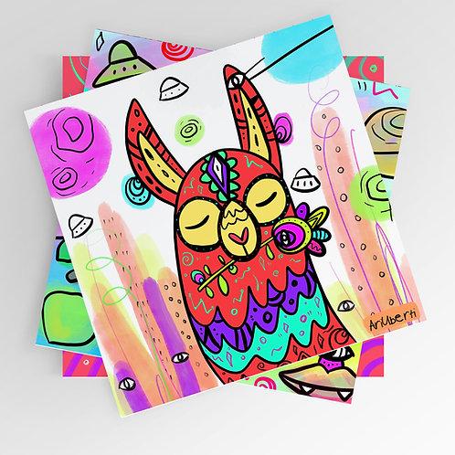 Happy llama 8x8 print